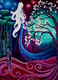 """Blessings, 24""""x18"""", acrylic on canvas, commission"""